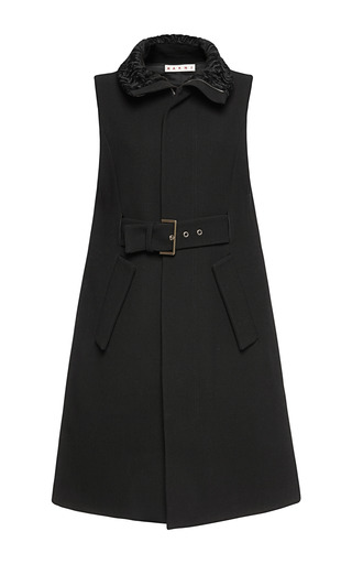 Medium marni black double face yarn dyed waistcoat