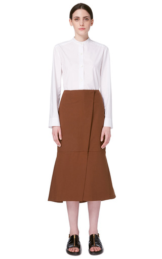 Washed Gabardine Skirt by MARNI for Preorder on Moda Operandi