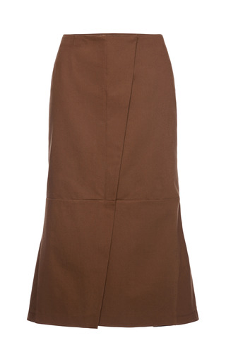 Medium marni burgundy washed gabardine skirt