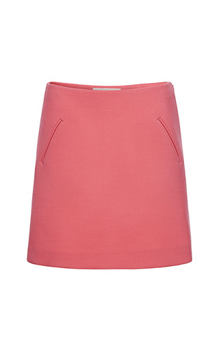 Medium marni red double face crepe skirt 2