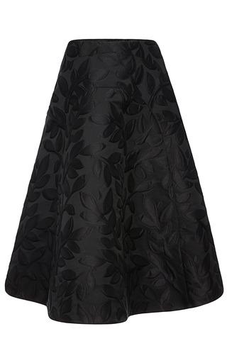 Medium marni black macro flower jacquard skirt