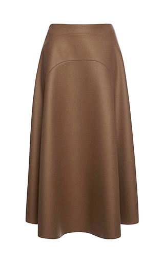 Medium marni brown wool felt skirt