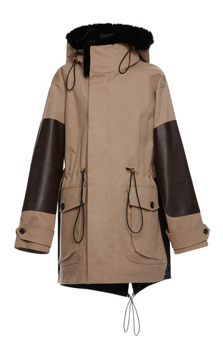 Medium marni brown bonded raincoat jacket