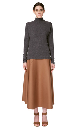Light Wool Rib Long Sleeve Turtleneck Sweater by MARNI for Preorder on Moda Operandi