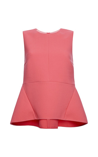 Medium marni red double face crepe tank top