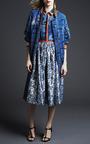 Printed Silk Satin Wyman Shirt by PREEN BY THORNTON BREGAZZI for Preorder on Moda Operandi