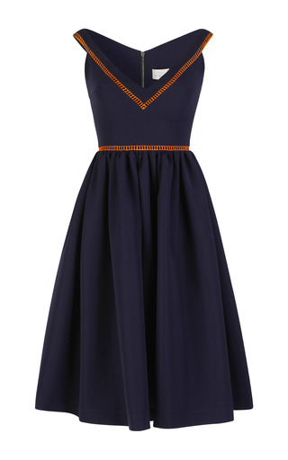 Medium preen orange ted satin frenzy flo dress