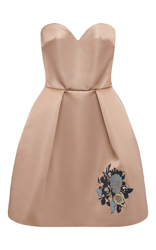 Medium msgm multi strapless duchess satin dress