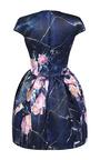 Cap Sleeve Printed Duchess Satin Dress by MSGM for Preorder on Moda Operandi