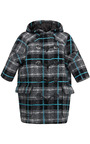 Plaid Felted Wool Toggle Coat by MSGM for Preorder on Moda Operandi