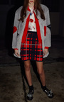 Plaid Fleece Skirt by MSGM for Preorder on Moda Operandi