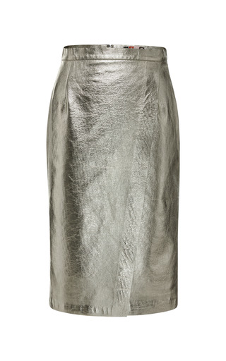 Faux Leather Pencil Skirt by MSGM for Preorder on Moda Operandi