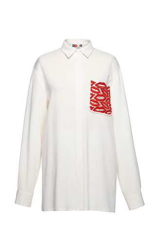 Medium msgm multi georgette shirt