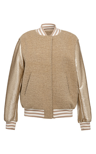 Medium msgm gold fleece bomber
