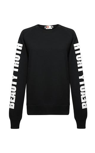 Medium msgm white fleece truth sweatshirt