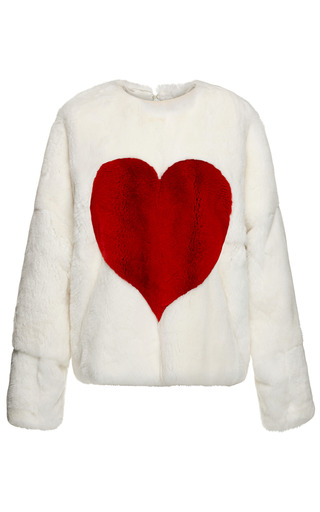 Medium msgm multi mink heart sweatshirt