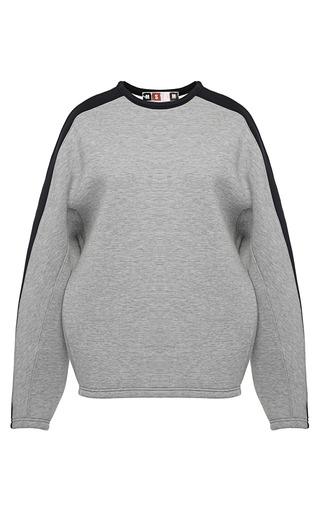 Medium msgm dark grey tri tone neoprene sweatshirt