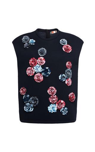 Medium msgm blue sleeveless fleece sweatshirt