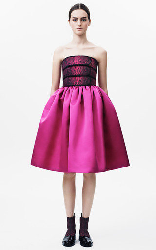 Cinch Bandeau Full Skirt Dress by CHRISTOPHER KANE for Preorder on Moda Operandi
