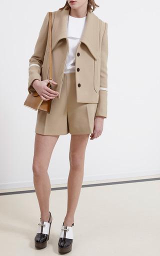 Medium carven brown caban wool shorts