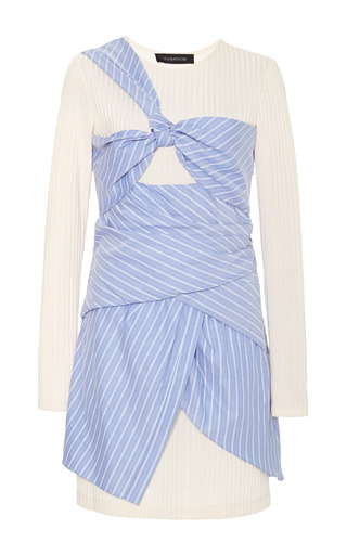 Medium thakoon multi long sleeve wrapped dress