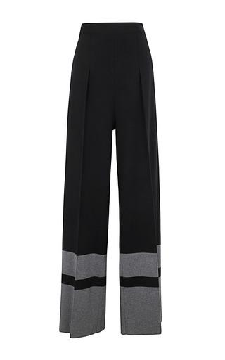 Medium sonia rykiel dark grey bi coloured wool milano pant