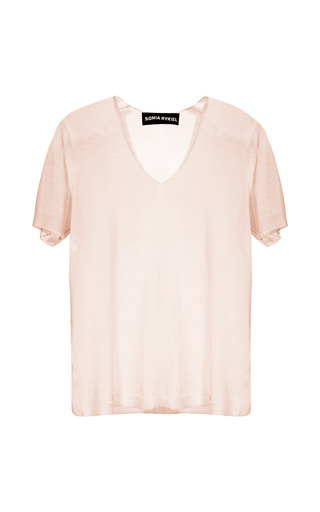 Medium sonia rykiel pink second skin knit tee