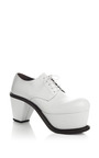White Leather Platform Brogues by J.W. ANDERSON for Preorder on Moda Operandi