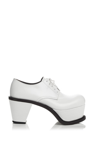 Medium j w anderson white white leather platform brogues