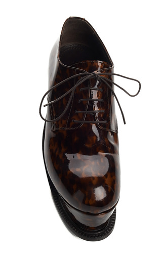 Tortoise Shell Platform Brogues by J.W. ANDERSON for Preorder on Moda Operandi