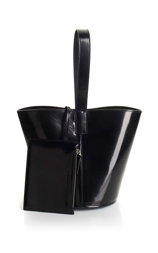 Brushed Leather Bucket Bag by J.W. ANDERSON for Preorder on Moda Operandi