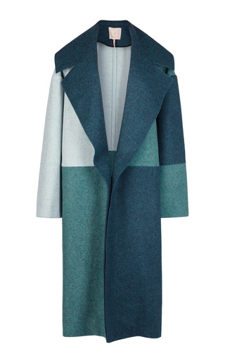 Medium roksanda ilincic green multi helston coat