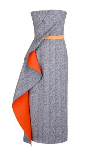 Medium roksanda ilincic orange vida dress with tangerine belt