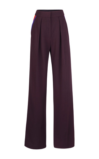 Medium roksanda ilincic red maroon marlow trousers