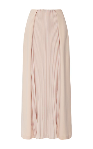 Medium cedric charlier nude satin skirt