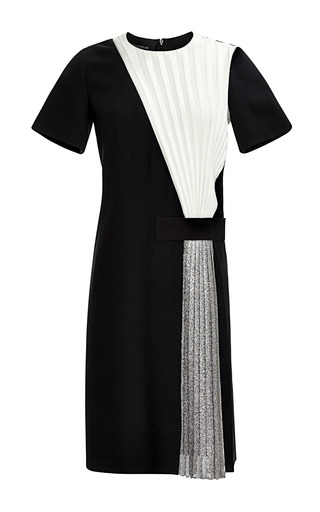 Medium cedric charlier silver satin dress 3