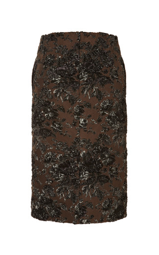 Vanna Floral Brocade Skirt by NO. 21 for Preorder on Moda Operandi
