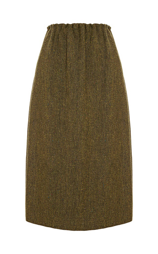 Medium no 21 olive giannina tweed skirt