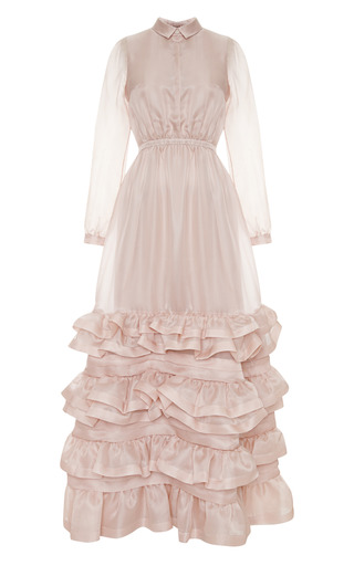 Medium no 21 pink anita silk organza dress