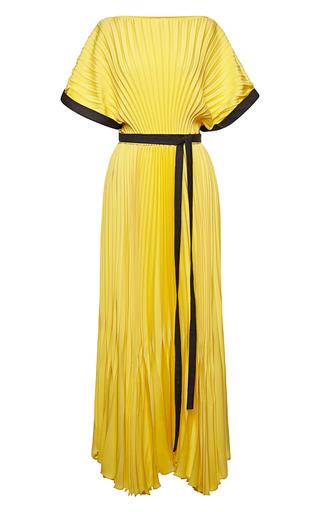 Medium vionnet yellow vionnet double georgette dress