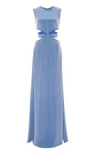 Medium cushnie et ochs blue cushnie et ochs silk crepe cut out gown