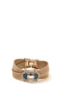 House Of Lavande One Of A Kind Vintage 1950's Boucher Gold Mesh And Stone Bracelet by HOUSE OF LAVANDE for Preorder on Moda Operandi