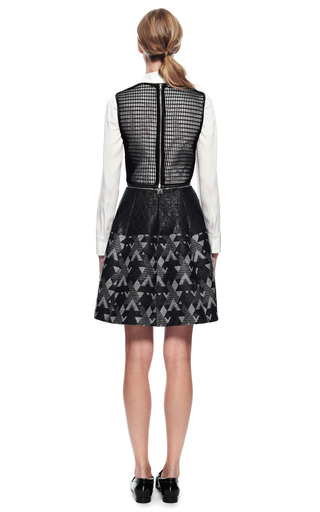 Yigal Azrouel Woven Patchwork Dress by YIGAL AZROUëL for Preorder on Moda Operandi