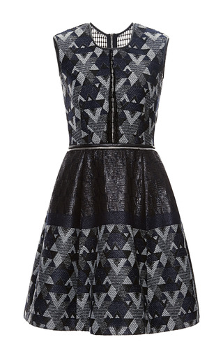 Medium yigal azrouel multi yigal azrouel woven patchwork dress