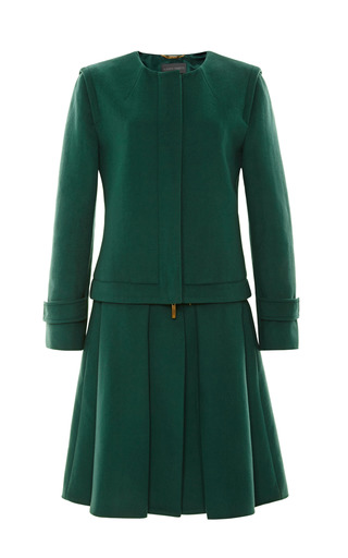 Medium alberta ferretti green alberta ferretti heavy weight felted wool coat