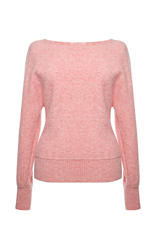 Medium vionnet pink vionnet long sleeve boatslick neck lineapiu sweater