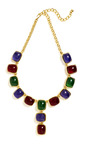 Kenneth Jay Lane Multi Stone Necklace by KENNETH JAY LANE for Preorder on Moda Operandi