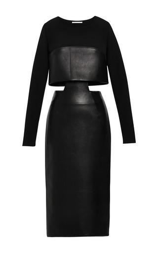Medium jonathan simkhai black leather cut out dress