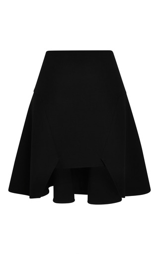 Medium jonathan simkhai black split fit flare skirt