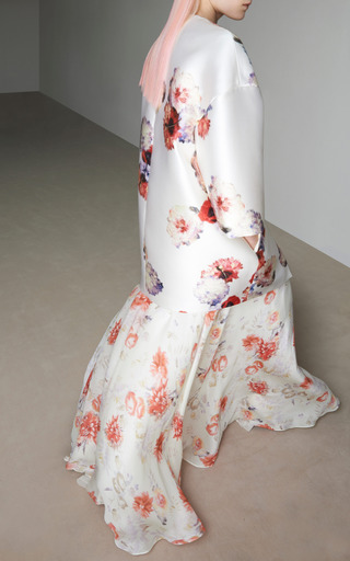 Floral Print Georgette Long Skirt by GIAMBATTISTA VALLI for Preorder on Moda Operandi